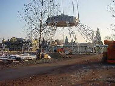 Der Europa-Park Dome im Aufbau. Bild: Europa-Park