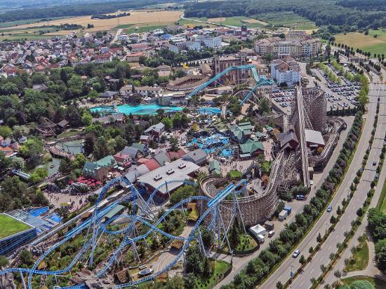 Der Europa-Park aus der Luft. Bild: Europa-Park