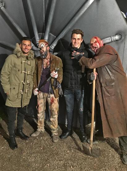 Onur Bulut und Marc-Oliver Kempf bei den Horror Nights im Europa-Park. Bild: Europa-Park