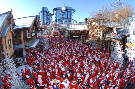 Das Weihnachtsmanntreffen im Europa-Park. Bild: Europa-Park