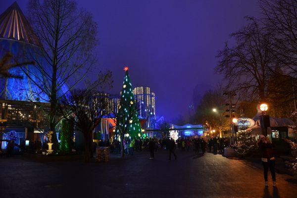 Der Luxemburger Platz mit dem großen Weihnachtsbaum zur Winteröffnung.