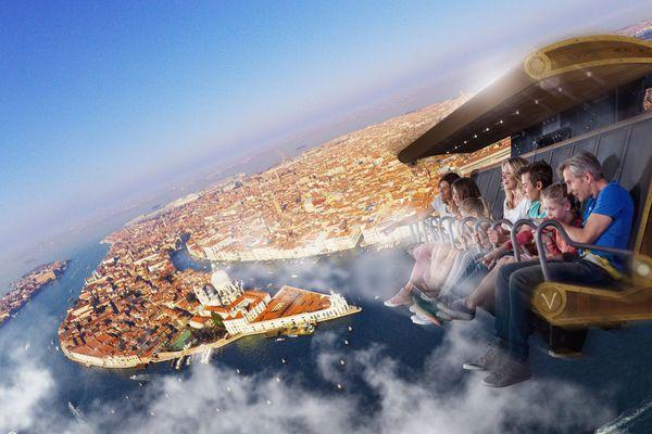 Der Flug über Europa im Voletarium. Bild: Europa-Park