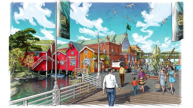 """Das Erlebnishotel """"Krønasår"""", wie es 2019 aussehen wird. Bild: Europa-Park"""