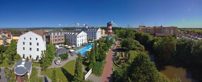 """Die 4-Sterne Superior Hotels """"Bell Rock"""" und """"Colosseo"""" des Europa-Park. Bild: Europa-Park"""