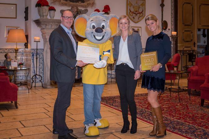 "Hotel Santa Isabel erhält ""HolidayCheck GOLD Award"". Bild: Europa-Park"