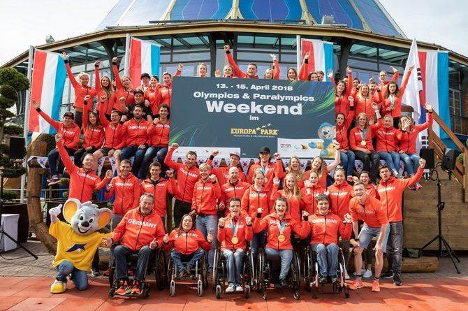 Die Teilnehmer des Olympics & Paralympics Weekend im Europa-Park. Bild: Europa-Park