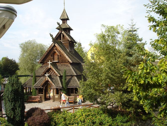 Die Norwegische Stabkirche.