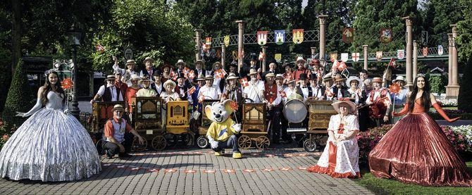 Am 01. August sind wieder 40 Drehorgelspieler aus der Schweiz im Europa-Park zu Gast. Bild: Europa-Park