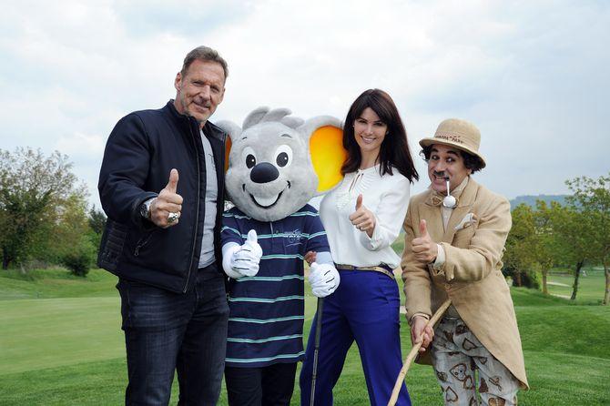 Ralf Moeller und Miriam Mack beim Europa-Park Eagles Charity Golfcup. Bild: Europa-Park