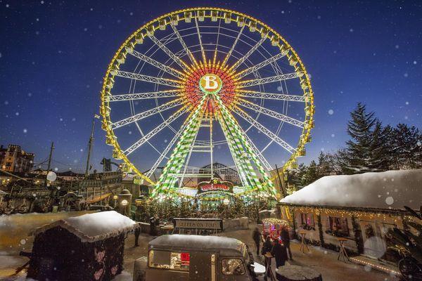 Das Riesenrad - eine der speziellen Attraktionen der Winteröffnung des Europa-Park. Bild: Europa-Park