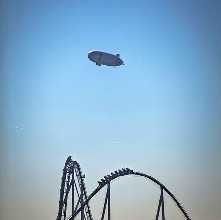 Der Zeppelin über dem Europa-Park . Bild: Europa-Park