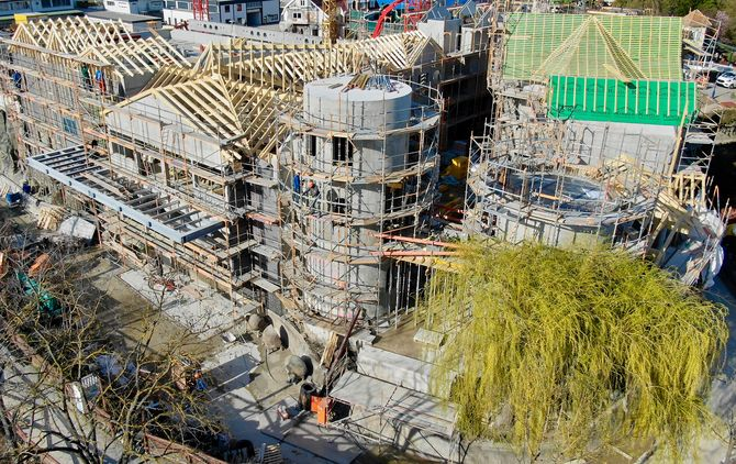 Schneller Baufortschritt: Der Skandinavische Themenbereich eröffnet am 24. Mai 2019. Bild: Europa-Park