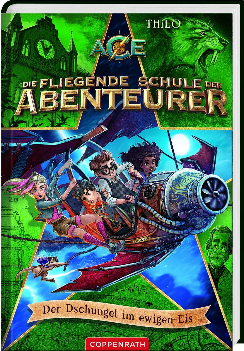 """Die fliegende Schule der Abenteurer – """"Der Dschungel im ewigen Eis"""" - (c) Coppenrath Verlag"""